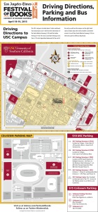 Parking is $10 at USC lots and $15 at Coliseum lots.