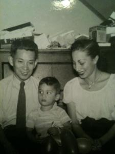 Grandpa and Grandma Marfori with my dad, Mike.